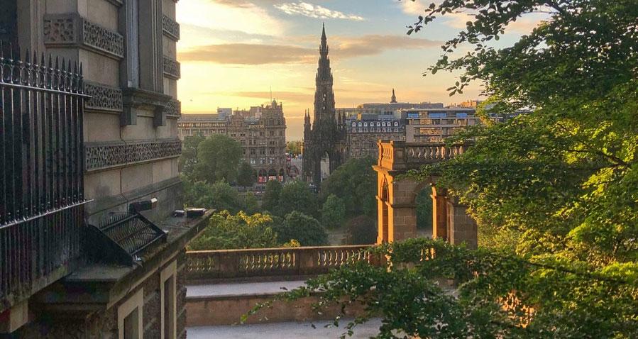 View of Edinburgh New Town